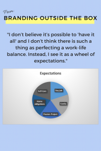 Don't have it all, have a wheel of expectations.