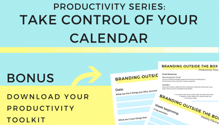 Productivity Series: Take Control of Your Calendar