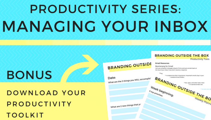Productivity Series: Managing Your Inbox
