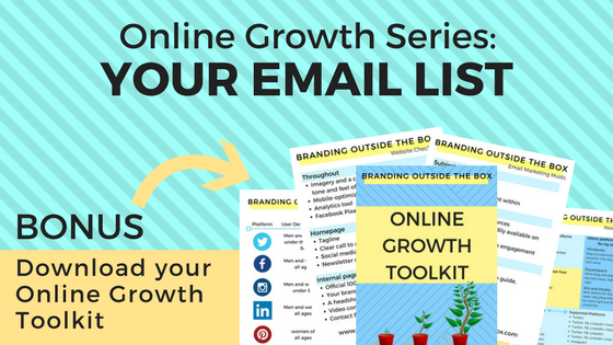 Grow Your Online Following Part Two: Your Email List