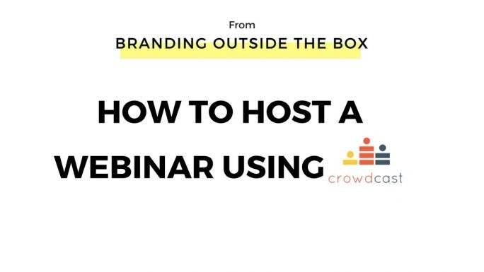 Tutorial: How to Host a Webinar Using Crowdcast