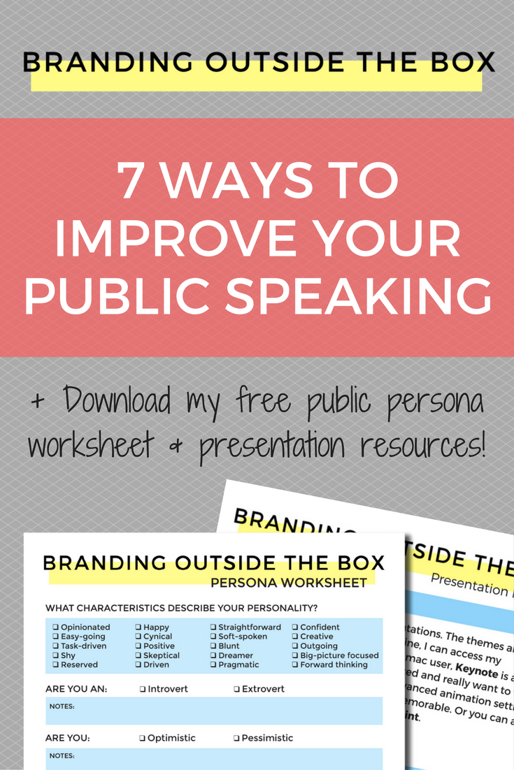 improve your public speaking A list of categories to help you improve your public speaking.